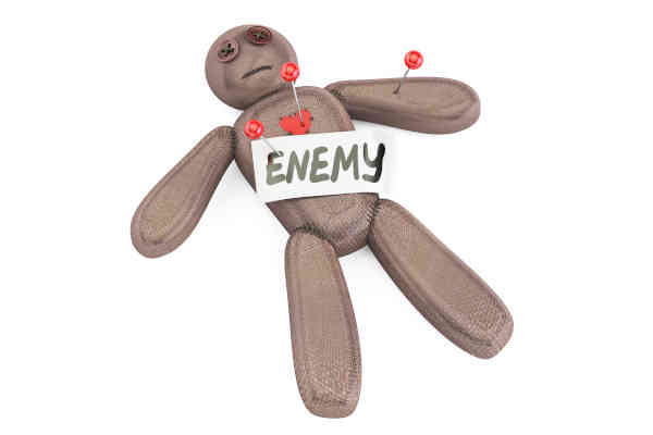 Enemy voodoo doll with needles