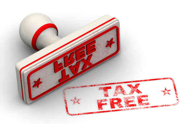 Tax Free. Seal And Imprint. Red Seal And Red Print Tax Free On W
