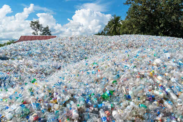 Ban Dung, Thailand - September 4, 2018: Storage Of Used Plastic